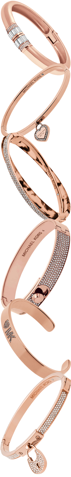 Michael Kors Assorted Rose Gold Bangles