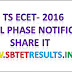 TS ECET- 2016 Final Phase Notification