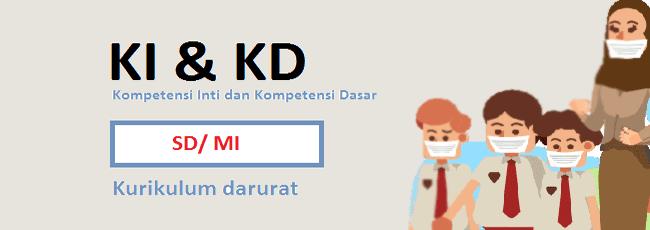 KI KD Bahasa Indonesia SD/MI Kelas 1 Kurikulum Darurat