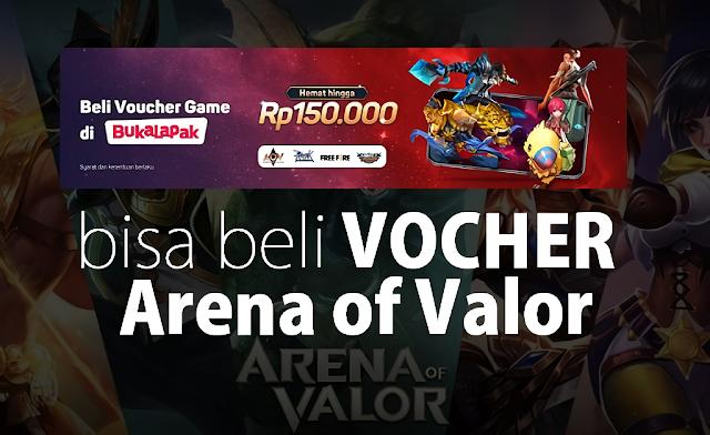 Murah, Gampang, dan Cepat Beli Vocher Arena Of Valor (AOV) Dengan Bukalapak