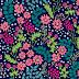 Garden Flower Plants Textile Repeat Design 20085