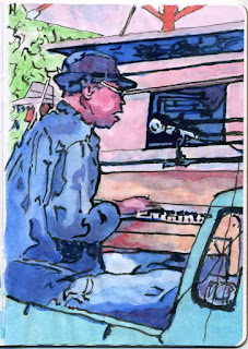 """""""Travelling Band"""" - Watercolor by Paul Sherman"""
