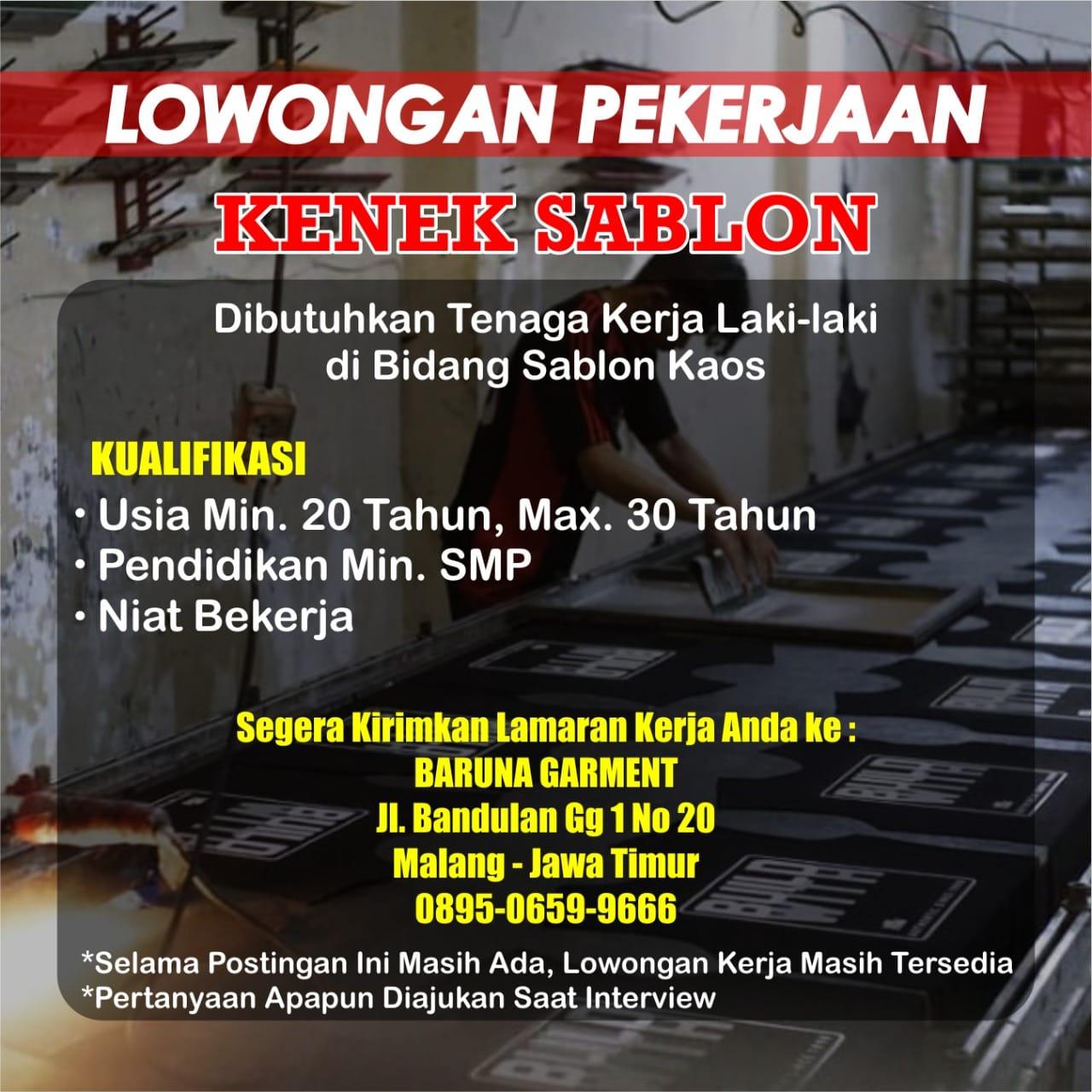 Loker Lowongan Kerja Kenek Sablon Baruna Garment Di Malang Kpop Squad Media All About K Pop And Intermezzo