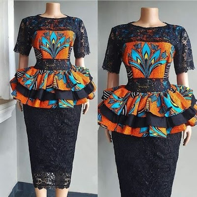 Latest Ankara & Lace Styles
