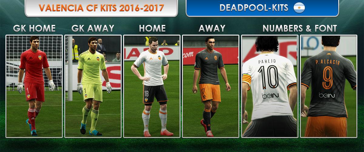 Valencia Fc Kits 2016 2017 Pes 2013 By Deadpool Actualizacion Pes 2013