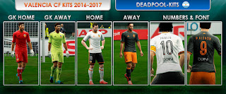 Valencia fc Kits 2016-2017 Pes 2013 by DEADPOOL