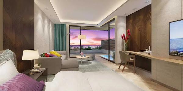 phòng ngủ trong căn biệt thự biển tại dự án Ixora Hồ Tràm