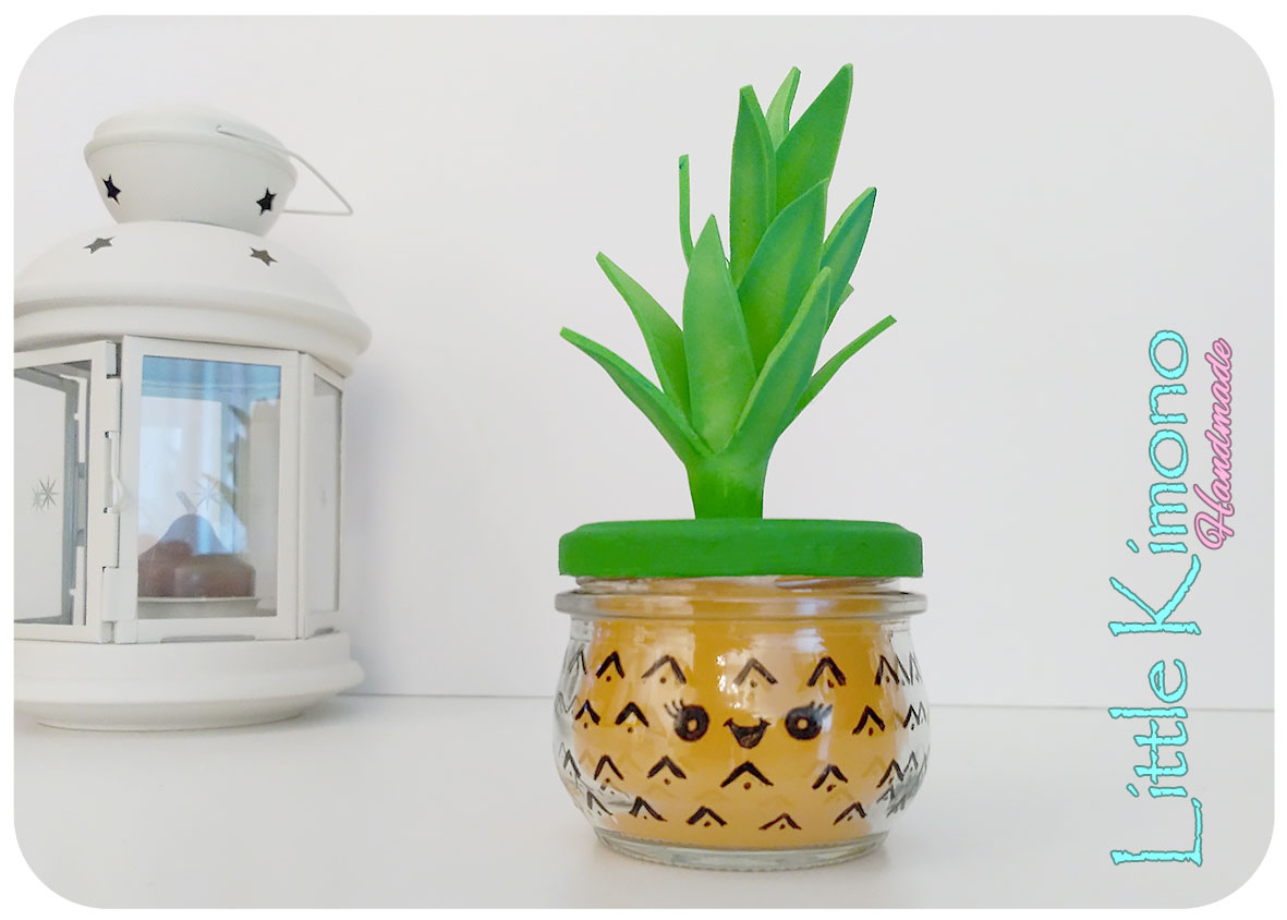 Vela kawaii con aroma a piña - Handbox Craft Lovers | Comunidad DIY ...
