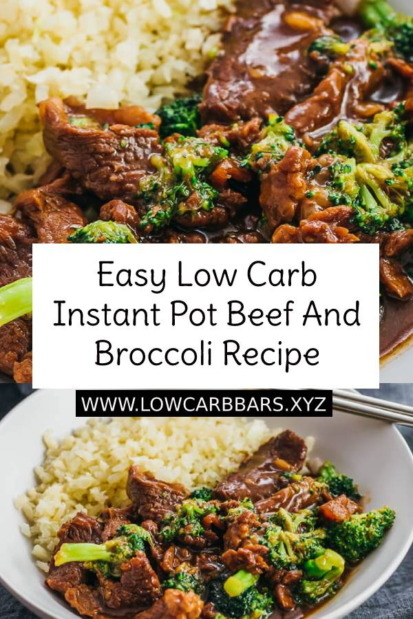 Easy Low Carb Instant Pot Beef And Broccoli Recipe - A quick beef and broccoli recipe made in the Instant Pot pressure cooker, similar to a Mongolian beef stir fry. Easily adaptable for a low carb / keto lifestyle. #easydinnerrecipe #beef #instantpot #broccoli #ketorecipe #ketodinner #easyketorecipe #ketobeef #lowcarbdinner #dinner #maindish #dish #healthydinner #healthyrecipe