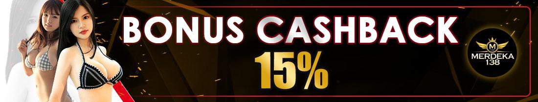 Bonus Cashback 15%
