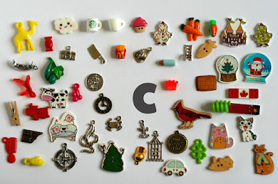 TomToy Individual letter C I spy trinkets for alphabet, Miniature abc objects, Montessori alphabet. Sorting toddler activities
