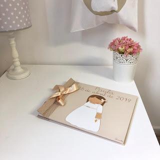 Libro de firmas infantil niña primera comunión personalizado