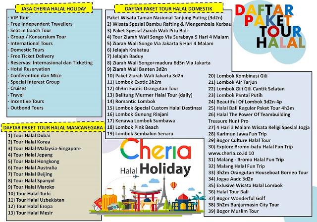 Daftar Paket Tour Halal Cheria Halal Holiday - Blog Mas Hendra