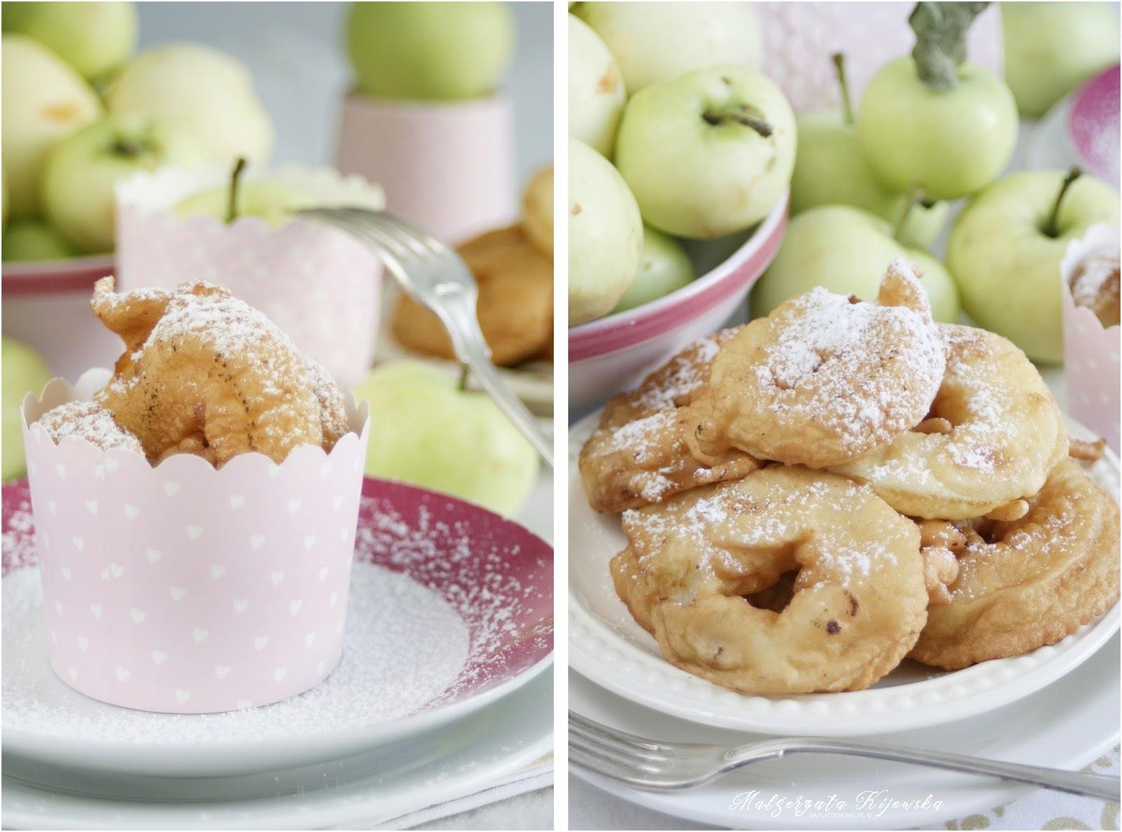 jabłka w cieście, deser z jabłek, daylicooking, Małgorzata Kijowska