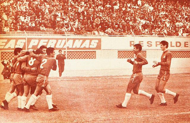 Perú y Chile en Copa del Pacífico 1968, partido de ida