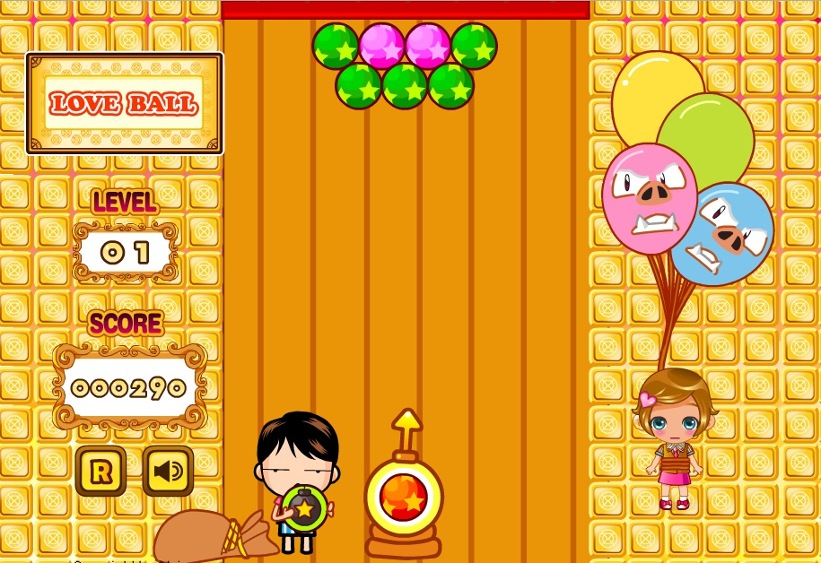 Love ball Play Free Online Facebook Game