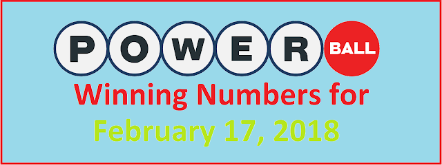 Powerball winning numbers for Saturday, 17 February 2018