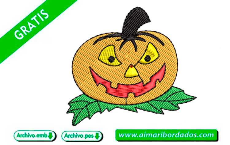 Calabaza halloween para bordar a máquina DESCARGA GRATIS