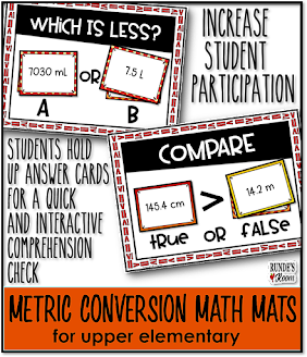 Runde's Room:  Metric Conversion Interactive Math Mats