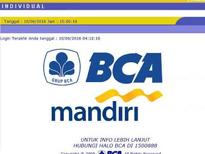 transfer bca mandiri internet banking