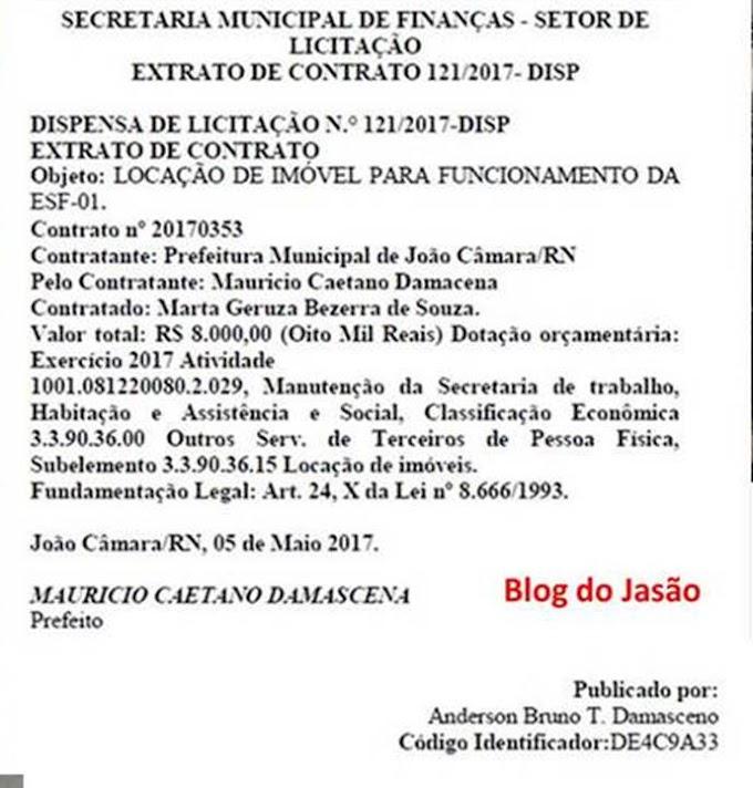 Setor de licitação da prefeitura de João Câmara pede desculpas ao nosso blog sobre matéria da casa e afirma que em tempo hábil irá corrigir o equivoco.