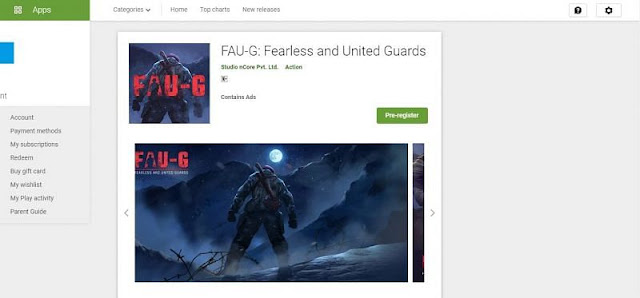 FAU-G Pre-registration started on Google Play Store