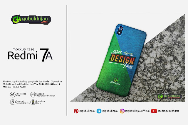 Mockup Custom Case Redmi 7A by gubukhijau