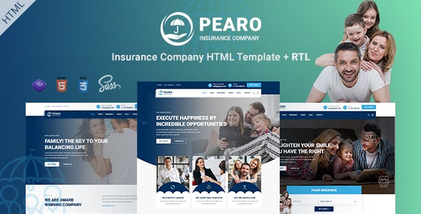 Beautifully Design Insurance Company Responsive Template