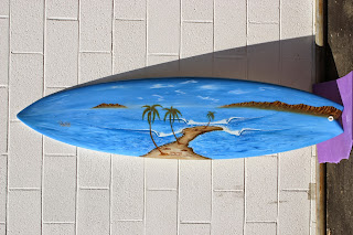 Surf murals surfboards art by Paul Carter