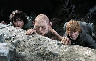 Frodo, Gollum y Sam
