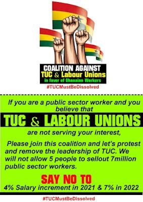 Demonstrate against TUC