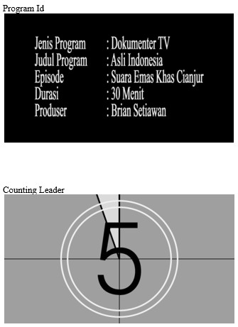 Program Dokumenter Televisi Tugas Editor