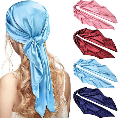 Simple Satin Head Scarves for Women