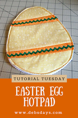 Quilted Easter Egg Hot Pad Sewing Project