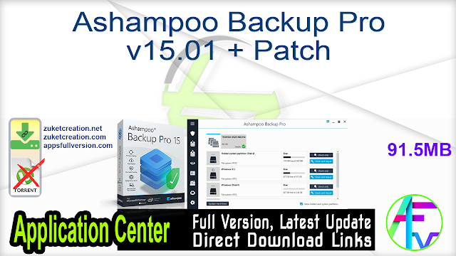 Ashampoo Backup Pro v15.01 + Patch