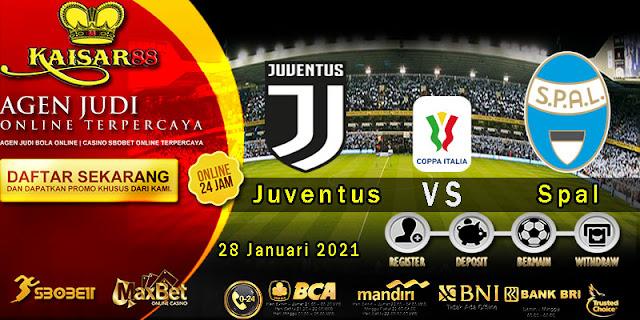 Prediksi Bola Terpercaya Liga Coppa Italia Juventus vs Spal 28 Januari 2021