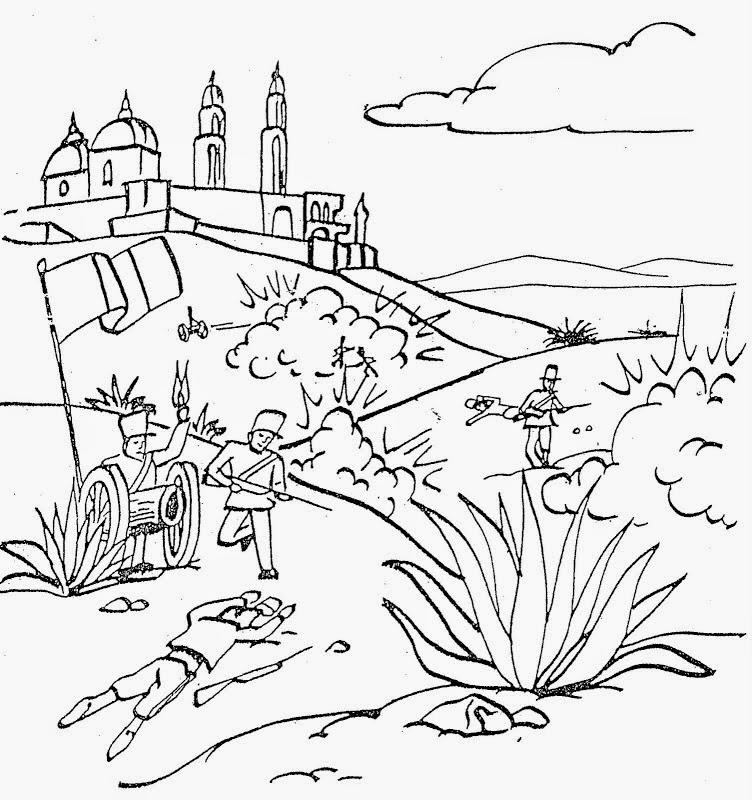 Colorear 5 de mayo para niños México | Colorear dibujos ...