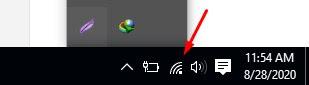 Periksa ikon jaringan di area notifikasi untuk melihat apakah Anda terhubung ke jaringan. Jika itu menunjukkan kekuatan sinyal jaringan (seperti gambar di bawah), maka Anda telah berhasil menyambung wifi ke laptop.