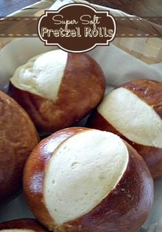 Super soft pretzel rolls are perfect with soup or as a bun for a sandwich or burger!