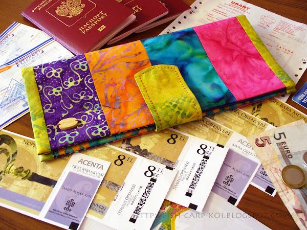 Холдер для документов - travel organizer ручной работы