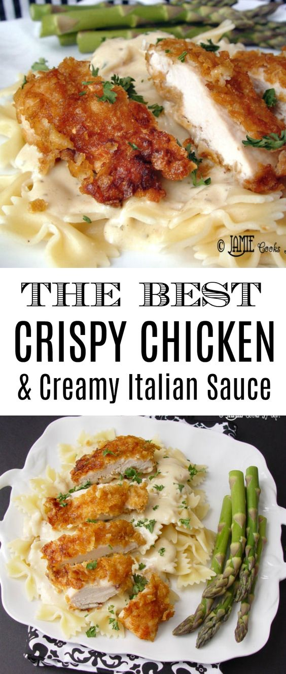 Crispy Chicken with Italian Sauce and Bowtie Noodles (NEW and IMPROVED) #recipes #dinnerrecipes #dishesrecipes #dinnerdishes #dinnerdishesrecipes #food #foodporn #healthy #yummy #instafood #foodie #delicious #dinner #breakfast #dessert #lunch #vegan #cake #eatclean #homemade #diet #healthyfood #cleaneating #foodstagram
