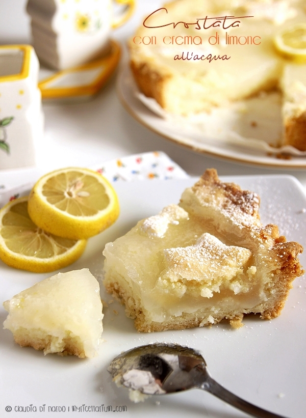 Crostata con crema di limone all'acqua
