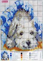 Схема вышивки щенка