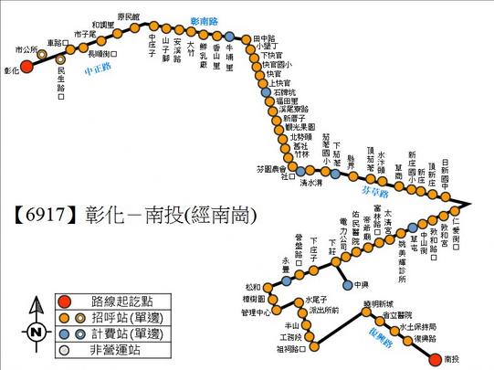路線地圖由 彰化 客運 提供