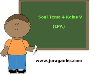 Soal Tematik Kelas 5 Tema 4 Kompetensi Dasar IPA dan Kunci Jawaban