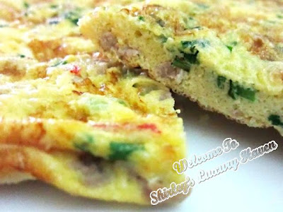 cooking happy call pan minced pork omelette