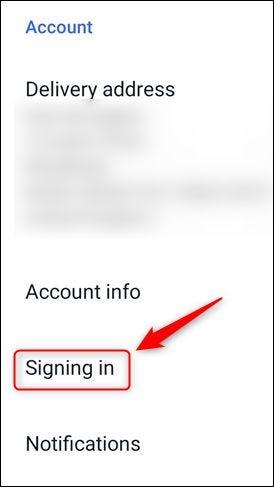 """خيار """"تسجيل الدخول"""" في قائمة eBay."""