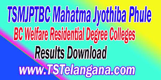 TSMJPTBC Mahatma Jyothiba Phule BC Welfare Residential Degree Colleges Entrace Test Results MJPTBCWRE Entrace Test Results Download