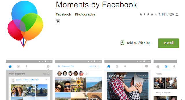 Moments App on Play Store