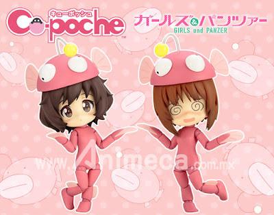 Figuras Miho Nishizumi & Yukari Akiyama Ankou Odori set Cu-poche Edición Limitada Girls und Panzer
